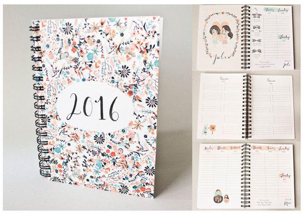 Taschenkalender - Jahresplaner A6 2016 - ein Designerstück von baer-von-pappe bei DaWanda