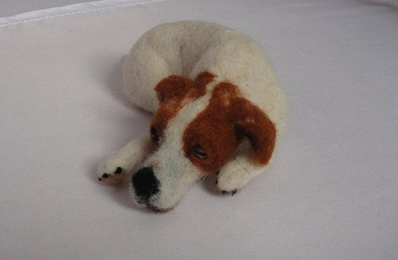 needle felted jack russell called Bella by presentswithpaws