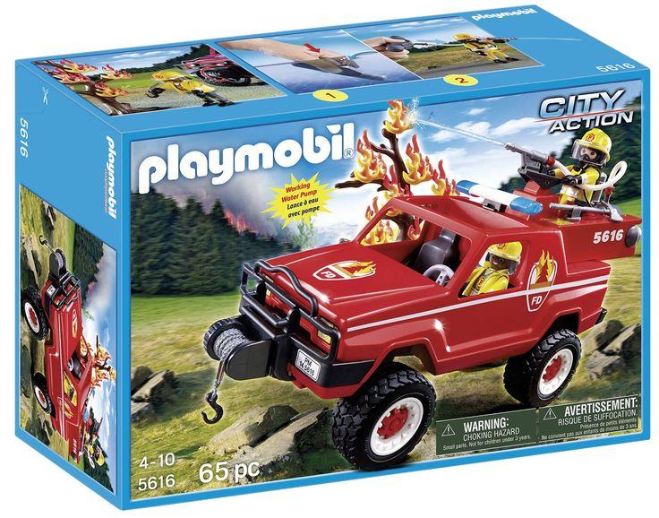 Playmobil - 310012 - 5616 - 4x4 Pompier D'intervention Avec Lance À Eau: Amazon.fr: Jeux et Jouets