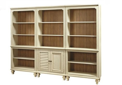 Avery-Light Bookcase SKU: AH1270200  FULL OFFICE collection available.  Bookcase features adjustable shelves in an antiqued white finish.The Upper Room Home Furnishings, Ottawa's Premier Home Furniture Store.