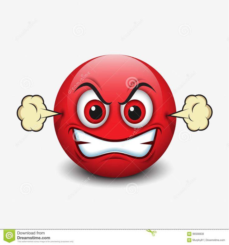 Foto sobre Emoticon irritado, emoji, smiley - ícone - 96568838