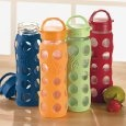 glass water bottles with protective silicon sleeves...$20 at amazon.com