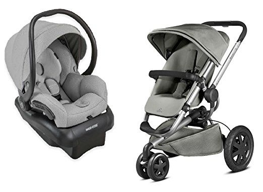 Quinny 2015 Buzz Xtra 20 Stroller With Maxi Cosi Mico 30 Infant Car Seat Grey
