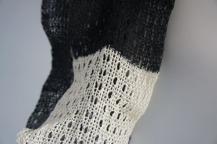 ReBlend Black & White knitting samples Ellen Sillekens / Sarena Huizinga