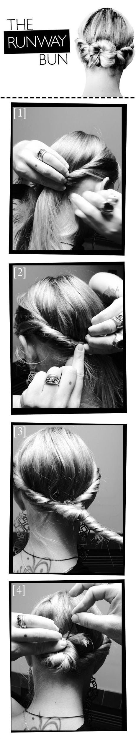 How To Create This Runway-Inspired Bun   hairstyles tutorial