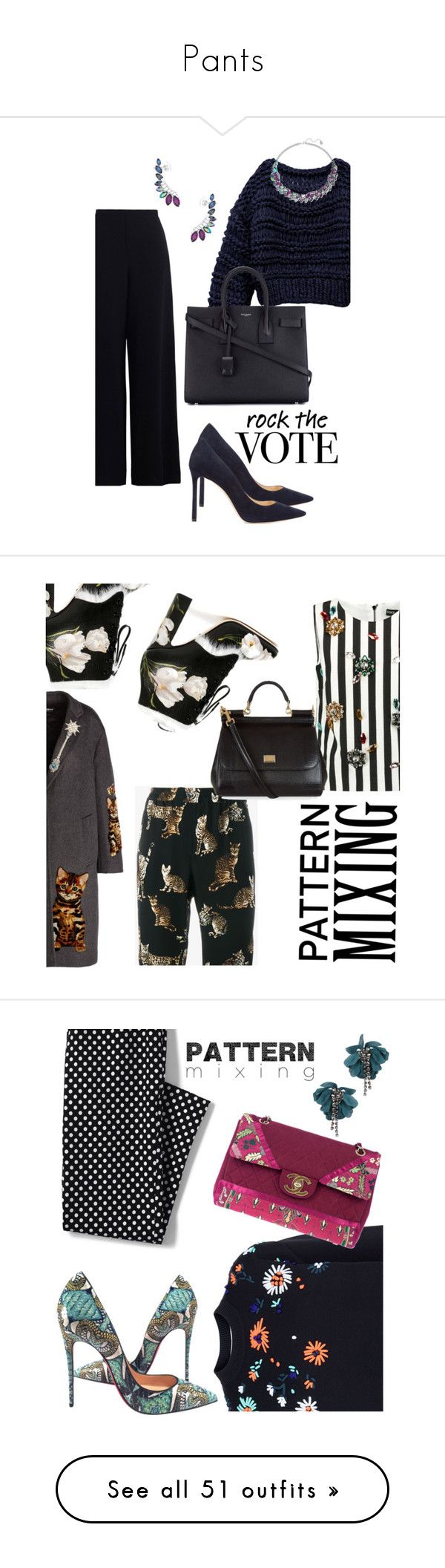 """""""Pants"""" by sara12alexandra ❤ liked on Polyvore featuring Zimmermann, Jimmy Choo, Yves Saint Laurent, Swarovski, Dolce&Gabbana, Victoria, Victoria Beckham, Christian Louboutin, Chanel, Lands' End and Lanvin"""