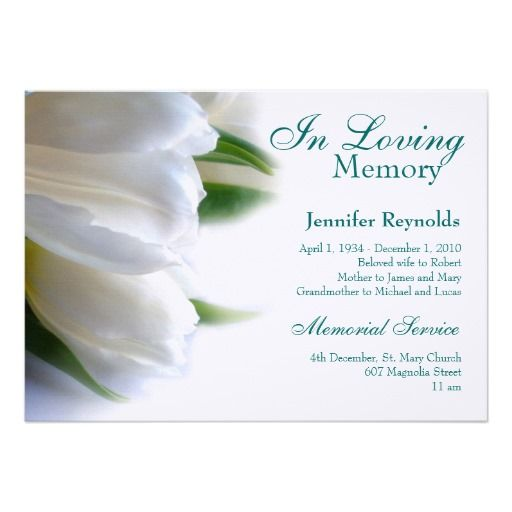 16 best funeral service cards images on pinterest punch needle memorial announcement stopboris Choice Image