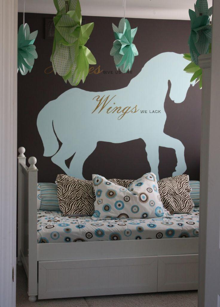 25 best horse themed bedroom images on pinterest horse themed bedrooms child room and horses for Horse themed bedroom for girls