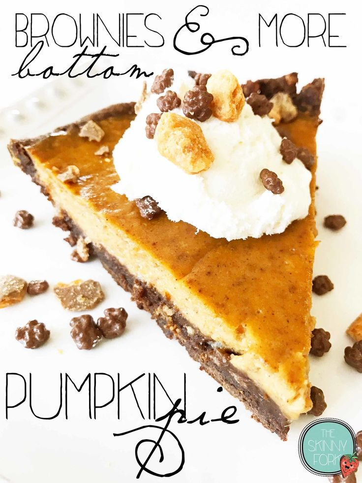 Brownies & More Bottom Pumpkin Pie        #BakeHolidayGoodness AD