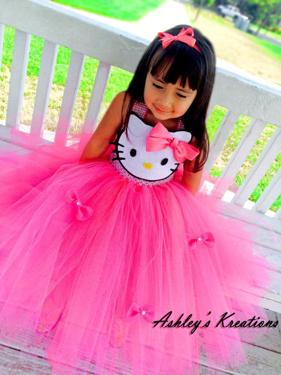 Hello Kitty Tutu Dress by ShopAshleysKreations on Etsy