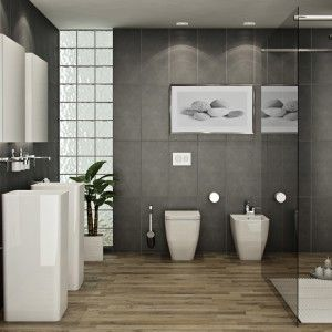 Best Incredible Grey Bathroom Ideas Images On Pinterest