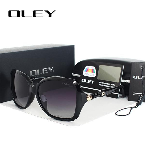 #FASHION #NEW OLEY Oversized Women Sunglasses Polarized butterfly Gradient Sun Glasses Female driving goggles Oculos de sol femininos Y77117