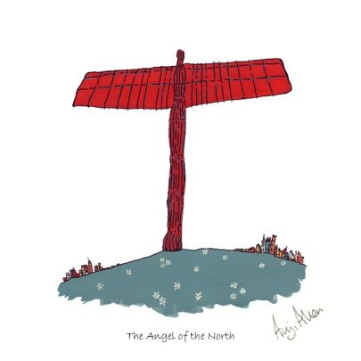 If you are an artist painting buildings and icons of local interest, the Angel is obligatory. Located in Gateshead this iconic steel sculpture by Anthony Gormley is truly magnificent. I feel much closer to the Angel since painting it! Limited edition print