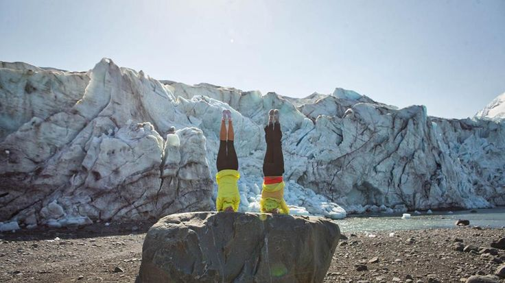 Yoga in Strange Places: Stretching on an Alaskan Glacier (PHOTOS)   The Weather Channel