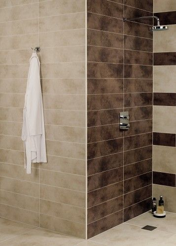Zamora brown wall and floor tile trim for for Beige tile bathroom ideas