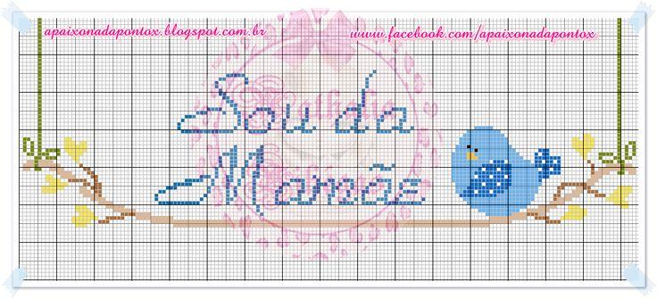 Apaixonada por Ponto Cruz: Sou da Mamãe, Sou da Dinda....
