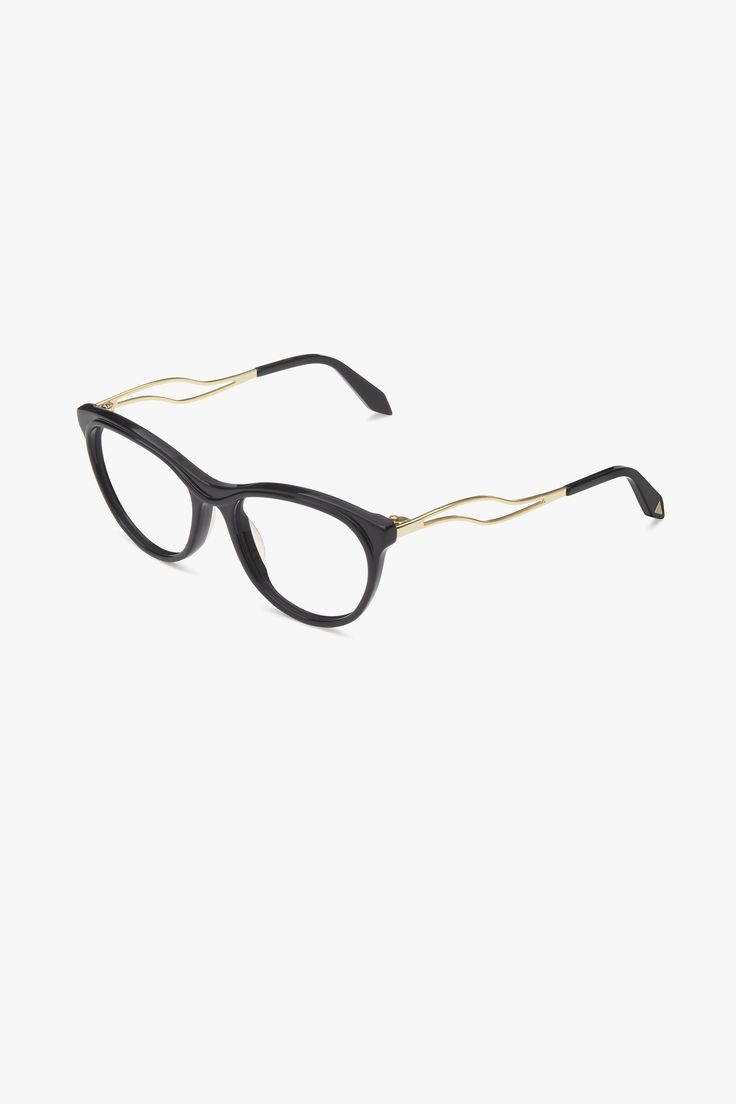 Acetate Kitten Wave VBOPT216 C5 Black & Gold Available to wholesalers from Eye Couture