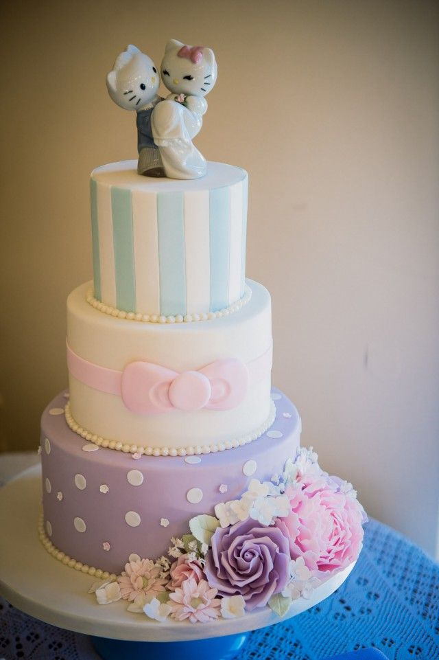 Hello Kitty Bride And Groom Cake Topper