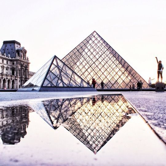 The Louvre on a wet day
