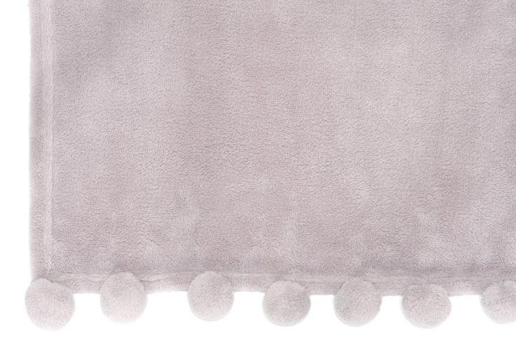 Plaid à pompons lavande de Jolipa sur lmladeco.com