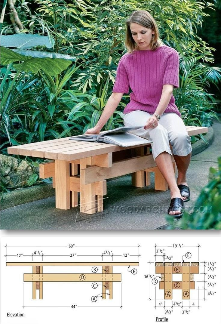 Best 25+ Garden bench plans ideas on Pinterest | Garden ...