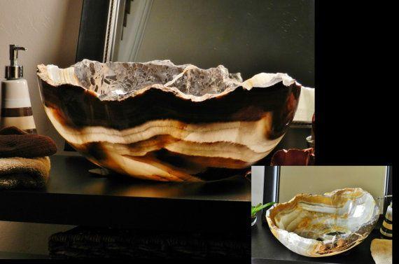 Modern Natural Stone Bathroom vessel by INSPIREDSTONEWORK on Etsy