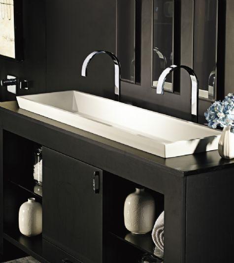 Charming MTI MTCS 733 Boutique Collection Petra Double Solid Surface Semi Recessed/Vessel  Sink