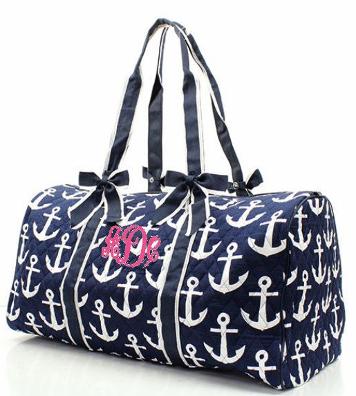 Personalized Monogrammed Quilted Navy Blue by HollysPinkBarn, $39.99. This is going on my Christmas list.