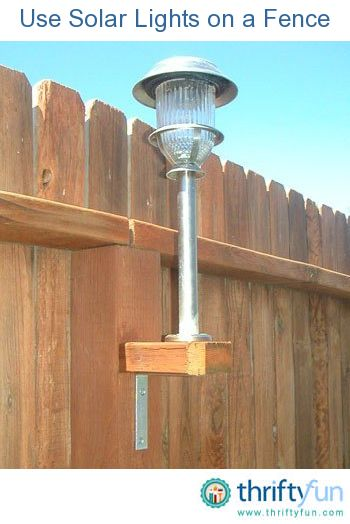 Adding solar lighting to a fence. The addition can light a patio or just improve safety and security after dark...Backyards Lights, Underneath Based, Solar Lights, Exist Fence, Back Yards, Galvanized Screw, Fence Post, The Originals, Backyards Fence