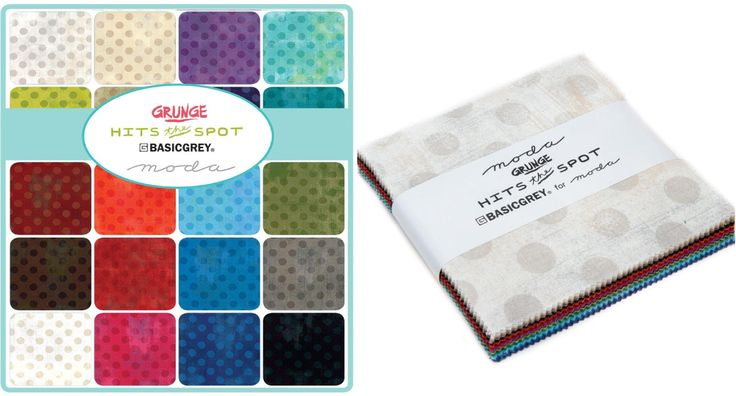 """'Grunge Hits the Spot' by Basic Grey for Moda... each charm pack includes 42 - 5"""" squares of fabric..."""