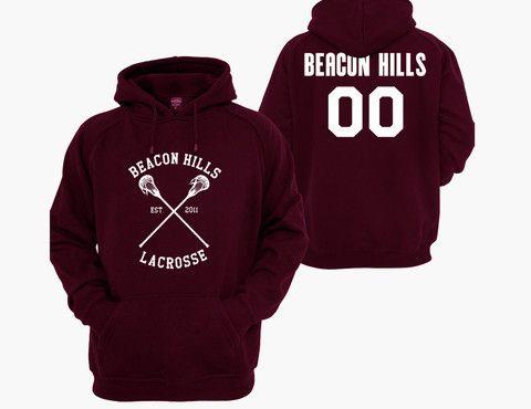 Teen Wolf Hoodie, Beacon Hills Lacrosse Hoodie,Teen Wolf Hooded Sweatshirt Beacon hills 00 Unisex Adult