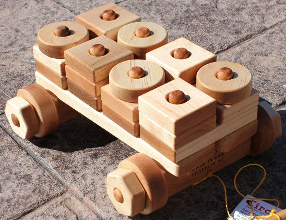 Wagon 40 Pieces by circatoys on Etsy, $59.00 BUILD IT WITH A SIMPLE PLANK BOARD CAR CONSTRUCTION ...