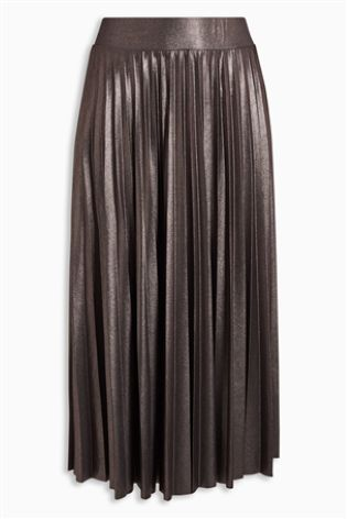 Our pleated skirt in pewter... just gorgeous!