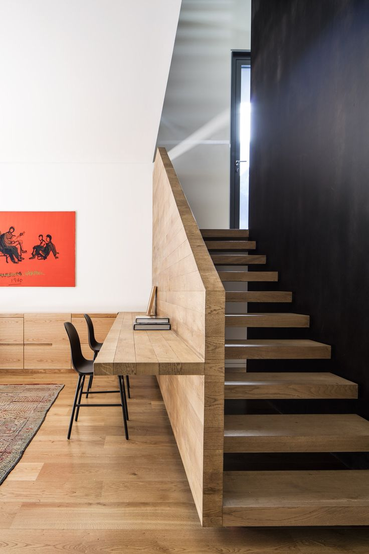 Staircase work table interior design ideas build a desk on an unused wall space to create a small home office