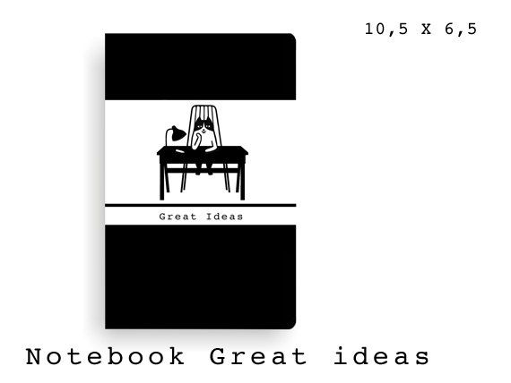 SMALL NOTEBOOK notitieboekje notebook notebooks Kat klein great ideas small journal little black book notes Cat black&white stationery door Boppedesign op Etsy