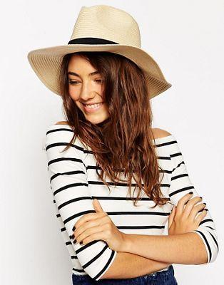 ASOS Straw Fedora Hat