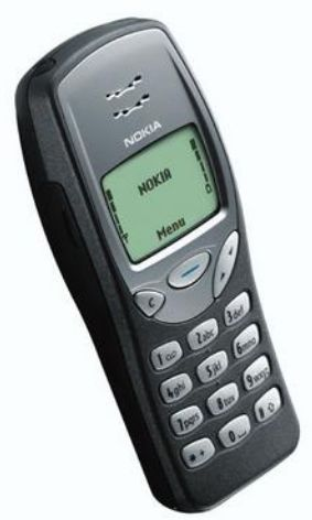 Nokia 3210. Just about everyone had one of these. Massively popular in 1999, with interchangeable front covers and the fabulous Nokia snake game.