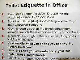 toilet etiquette in Office | signs in Asia | Pinterest ...