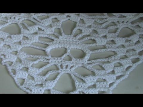 Haken - tutorial: schedelsjaal- omslagdoek - YouTube