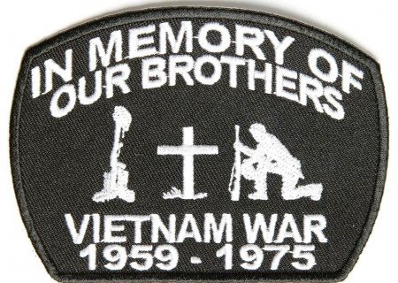 In Memory Of Our Brothers Vietnam War Patch 4x3 inch