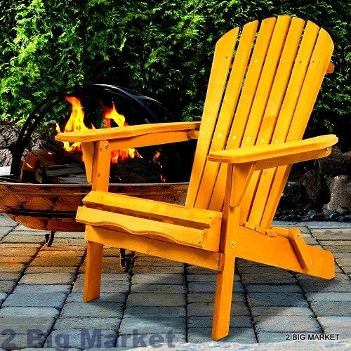 Porch Wooden Seat Foldable Out Door Grass Garden Easy Chair Patio Furniture New  #PorchWoodenSeat