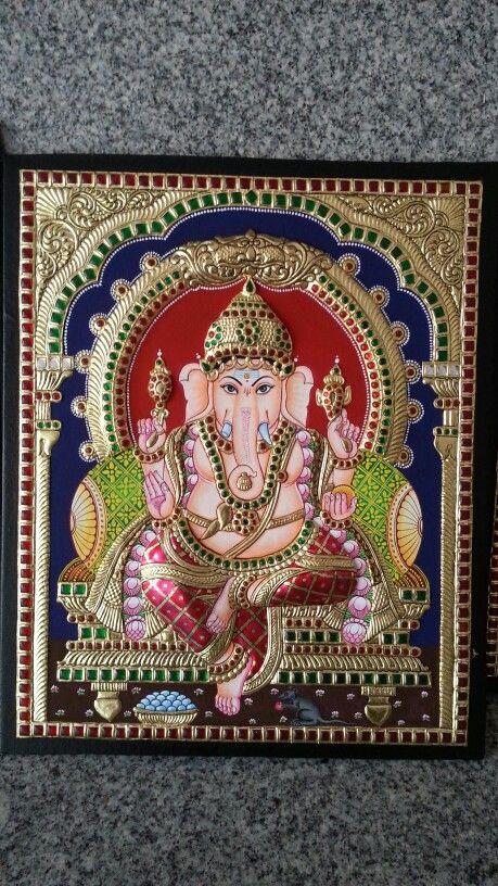 Ganesha tanjore painting.