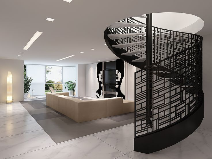 17 best images about penthouse ideas on pinterest penthouse suite penthouse hotel and - Amazing private house design with luxurious swirly white staircase ...