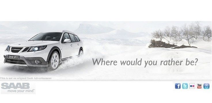 """Unofficial Saab Digital Advertisement For The Saab 9-3x SportCombi """"Where Would You Rather Be"""""""