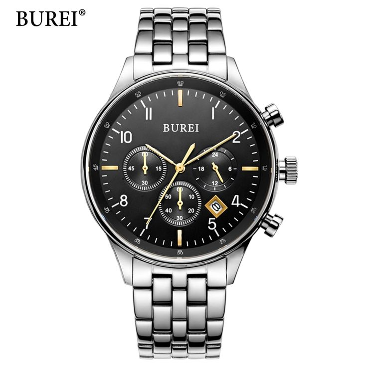 (66.99$)  Watch more here  - BUREI Top Brand Fashion Leisure And Business Men Watch Sports Watches Multifunction Treadmill Wirst Quartz Watch Waterproof 30M