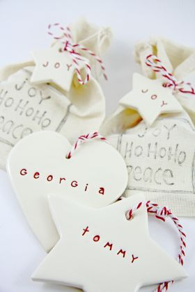 Personalised Christmas decorations - great idea for friends & family!