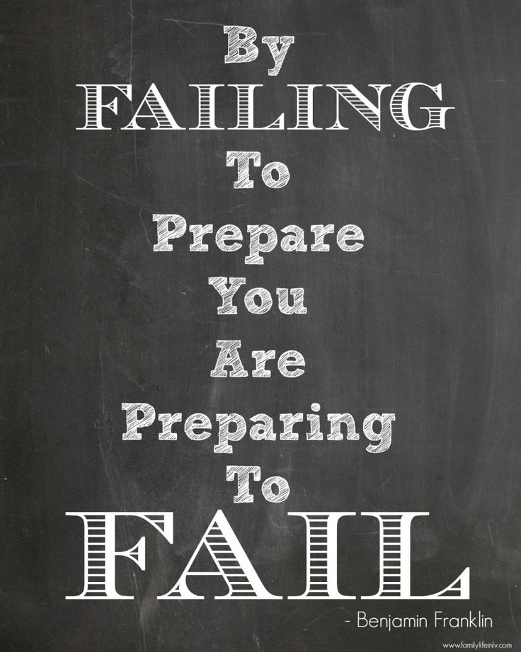 """Benjamin Franklin Quotes"" ""Fail to Prepare"" ""Quotes"""