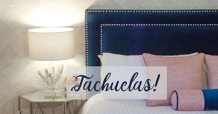 M s de 25 ideas incre bles sobre cabecero con tachuelas en - Chinchetas para tapizar ...
