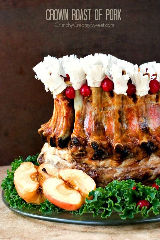 46 best images about lamb pork crown roast on pinterest pork stuffing and rack of lamb - Christmas pork roast five recipes ...