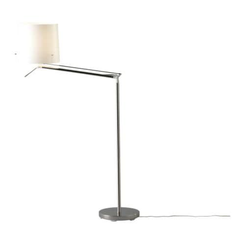 Samtid Floor Reading Lamp Nickel Plated White Lamba Ikea Yer Lambasi